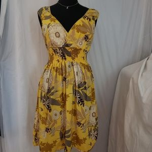 Speed Control 1X yellow floral gathered waist